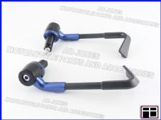 BRAKE AND CLUTCH LEVER PROTECTORS NEW DESIGN BLUE TRACK, RACE, STREETBIKE